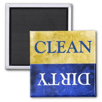 sauberes und schmutziges Zeichen für Spülmaschine Kühlschrankmagnet
