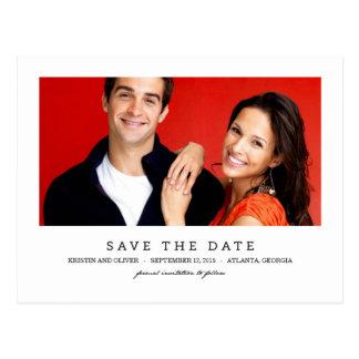 SÄUBERN Sie 1 Foto-Save the Date Postkarte