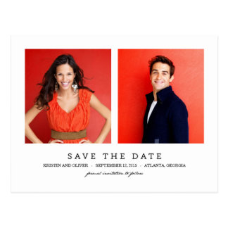SÄUBERN Sie die 2 Foto-Save the Date Postkarte