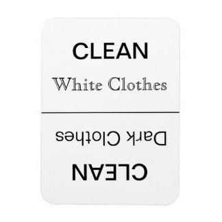 Säubern Sie - dunkle (dunkler Text) /White Eckiger Magnet