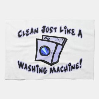 Säubern Sie gerade wie eine Waschmaschine Geschirrtuch