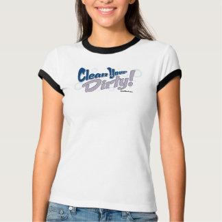 Säubern Sie Ihr schmutziges! - Blaue Wecker-T - T-Shirt