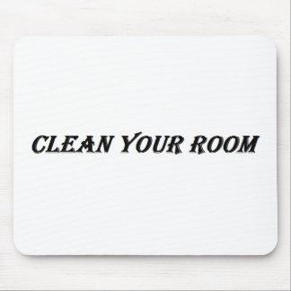 säubern Sie Ihren Raum Mauspad