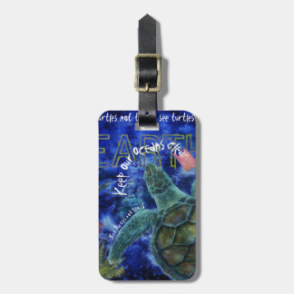 Säubern Sie Ozean-Meeresschildkröte-Kunst Gepäckanhänger