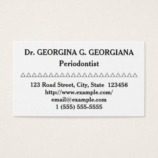 Säubern Sie Periodontist-Visitenkarte Visitenkarte