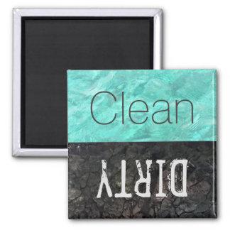 Säubern Sie   schmutzige Geschirr-Spülmaschine Quadratischer Magnet