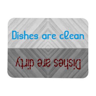 Säubern Sie | schmutzige Geschirr-Spülmaschine Vinyl Magnete