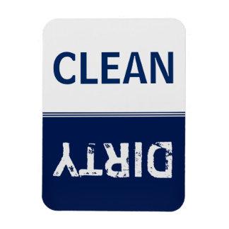 Säubern Sie schmutzige Marine-Blau-Spülmaschine Eckiger Magnet