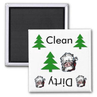 Säubern Sie schmutzige Sankt-Spülmaschinen-Magnete Quadratischer Magnet