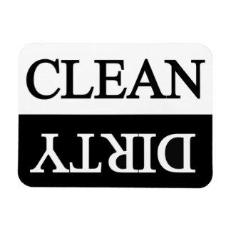 Säubern Sie schmutzige schwarze Spülmaschine Vinyl Magnete