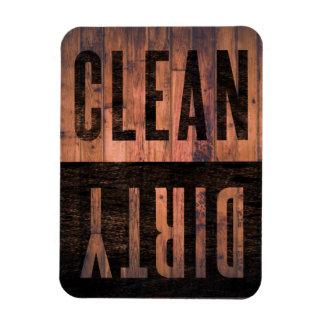 Säubern Sie | schmutzige Spülmaschine beunruhigtes Vinyl Magnet