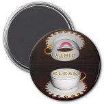 Säubern Sie schmutzige Spülmaschinen-Erinnerung Magnets