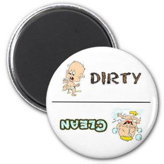 Säubern Sie schmutzigen Baby-Spülmaschinen-Magnete Runder Magnet 5,1 Cm