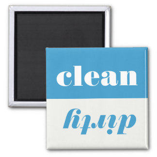 Säubern Sie schmutzigen Quadratischer Magnet