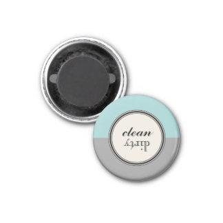 Säubern Sie schmutzigen Runder Magnet 3,2 Cm