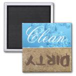 Säubern Sie,/schmutziger Spülmaschinen-Magnet Kühlschrankmagnete