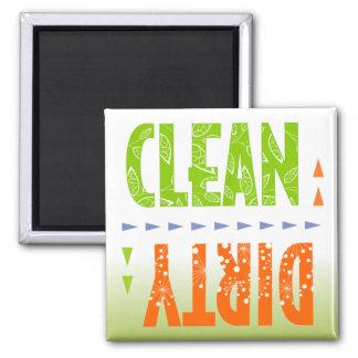 Säubern Sie,/schmutziger Spülmaschinen-Magnet Quadratischer Magnet
