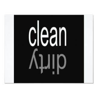 Säubern Sie,/schmutziger Spülmaschinen-Magnet 10,8 X 14 Cm Einladungskarte