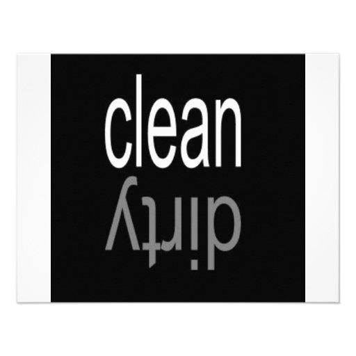 Säubern Sie,/schmutziger Spülmaschinen-Magnet Personalisierte Einladung