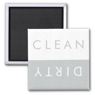 Säubern Sie,/schmutziger Spülmaschinen-Magnet im Quadratischer Magnet