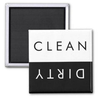 Säubern Sie,/schmutziger Spülmaschinen-Magnet in Quadratischer Magnet