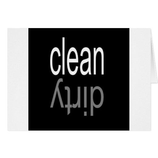 Säubern Sie,/schmutziger Spülmaschinen-Magnet Grußkarten