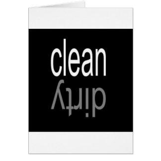 Säubern Sie,/schmutziger Spülmaschinen-Magnet Grußkarte