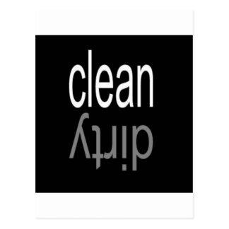 Säubern Sie,/schmutziger Spülmaschinen-Magnet Postkarte