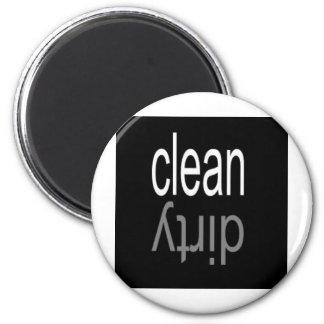 Säubern Sie,/schmutziger Spülmaschinen-Magnet Runder Magnet 5,1 Cm