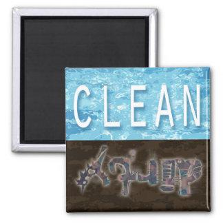 Säubern Sie,/schmutziger Spülmaschinenmagnet Quadratischer Magnet