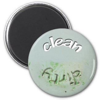 Säubern Sie,/schmutziger Teller - Runder Magnet 5,7 Cm