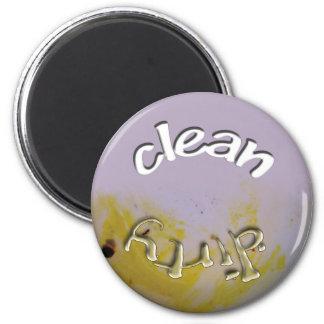 Säubern Sie,/schmutziger Teller - Spülmaschinen-Ma Runder Magnet 5,7 Cm