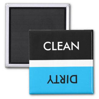 Säubern Sie schmutziges blaues weißes Schwarzes Quadratischer Magnet