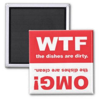 Säubern Sie schmutziges Kühlschrankmagnete