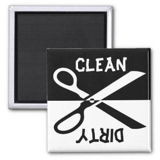 Säubern Sie schmutziges - Spülmaschine Quadratischer Magnet