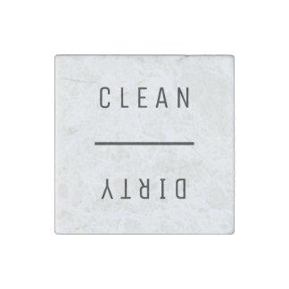 Säubern Sie schmutziges Steinmagnet
