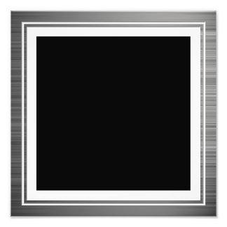 Säubern Sie silberne metallische Rand-Grenze Kunst Photo