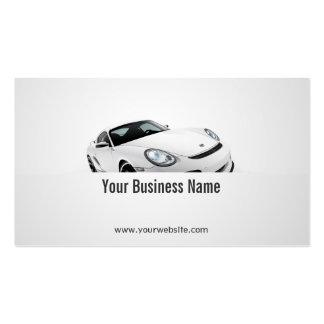 Säubern Sie Sport-Auto-Händler-Visitenkarte Visitenkarten