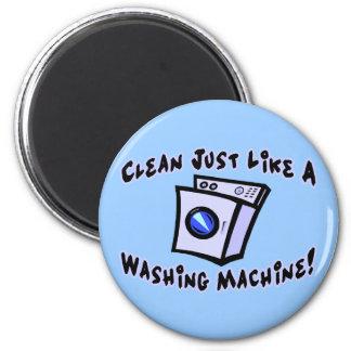 Säubern Sie wie eine Waschmaschine Runder Magnet 5,7 Cm