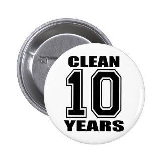 säubern Sie zehn Jahre schwarzes buton Runder Button 5,1 Cm