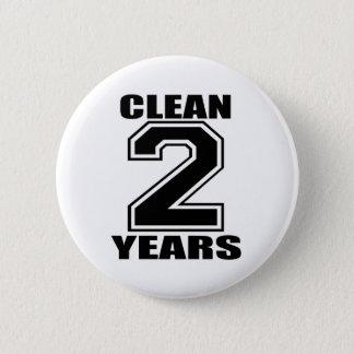 säubern Sie zwei Jahre Schwarze Runder Button 5,1 Cm