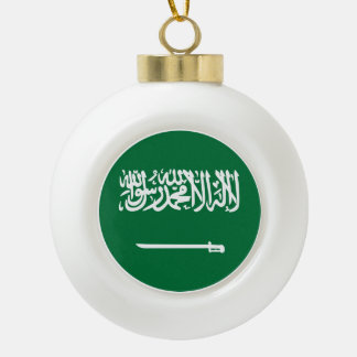 Saudi-Arabien Flagge Keramik Kugel-Ornament