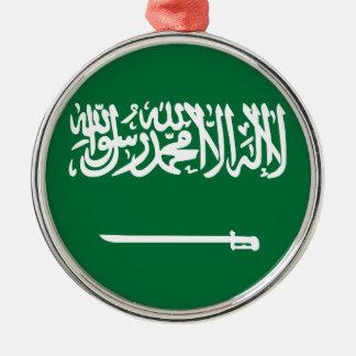 Saudi-Arabien Flagge Silbernes Ornament