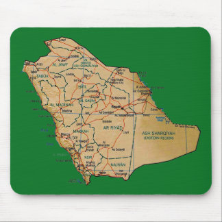 Saudi-Arabien Karte Mousepad