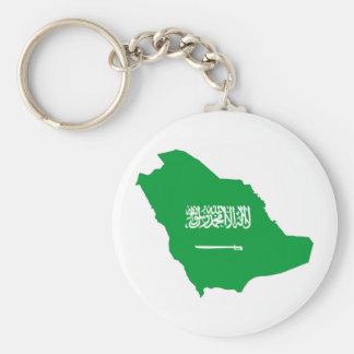 Saudi-Arabien Landesflaggeform-Kartensymbol Schlüsselanhänger