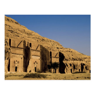 Saudi-Arabien, Standort von Madain Saleh, alte 2 Postkarte