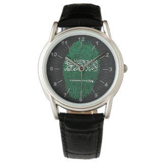 Saudi-Arabien Touch-Fingerabdruckflagge Uhr