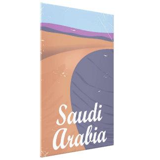 Saudi-Arabien Vintages Reiseplakat Leinwanddruck