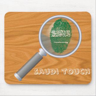 Saudische Touchfingerabdruckflagge Mousepad