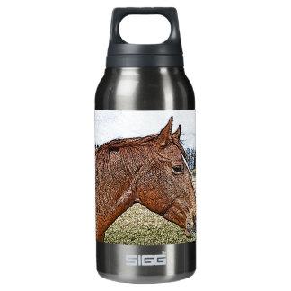 Sauerampfer-Pferdeporträt-pferdeartige Isolierte Flasche